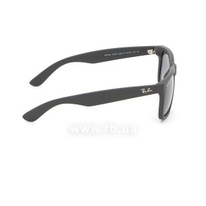 Очки Ray-Ban Justin RB4165-622-T3 Matt Black | Gradient Grey Polarized, вид справа