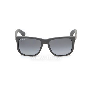 Очки Ray-Ban Justin RB4165-622-T3 Matt Black | Gradient Grey Polarized, вид спереди
