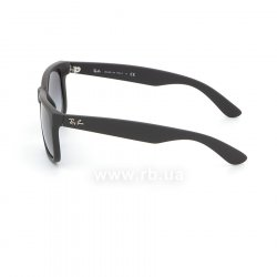 Очки Ray-Ban Justin RB4165-601-8G Black Rubber/APX Gradient Grey 12