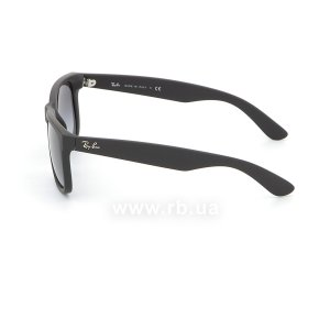 Очки Ray-Ban Justin RB4165-601-8G Black Rubber/APX Gradient Grey, вид слева