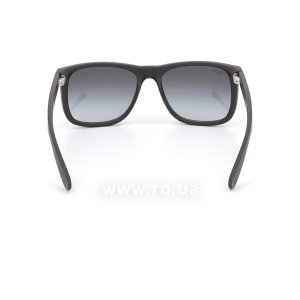 Очки Ray-Ban Justin RB4165-601-8G Black Rubber/APX Gradient Grey, вид сзади