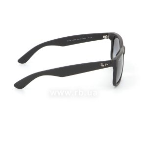 Очки Ray-Ban Justin RB4165-601-8G Black Rubber/APX Gradient Grey, вид справа