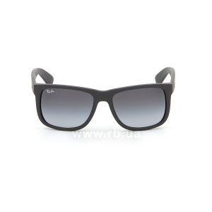 Очки Ray-Ban Justin RB4165-601-8G Black Rubber/APX Gradient Grey, вид спереди