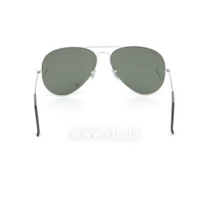 Очки Ray-Ban Aviator Large Metal RB3025-W3277 Silver/Silver Mirror, вид сзади