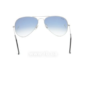 Очки Ray-Ban Aviator Large Metal RB3025-003-3F Silver/Gradient Light Blue, вид сзади