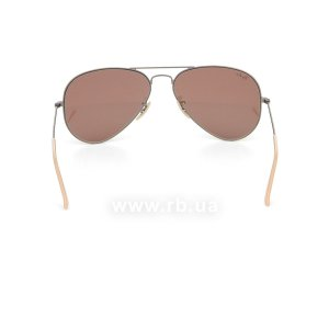 Очки Ray-Ban Aviator Flash Lenses RB3025-167-2K Matte Silver | Brown Mirror Dark Pink , вид сзади