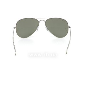 Очки Ray-Ban Aviator Flash Lenses RB3025-029-30 Matte Gunmetal | Crystal Silver Mirror, вид сзади