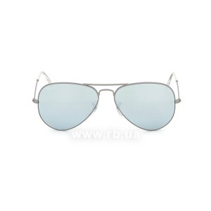 Очки Ray-Ban Aviator Flash Lenses RB3025-029-30 Matte Gunmetal | Crystal Silver Mirror, вид спереди