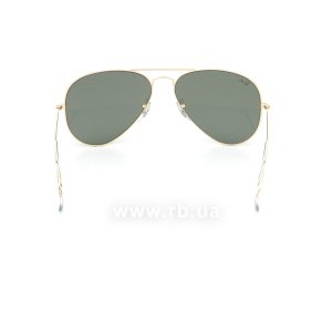 Очки Ray-Ban Aviator Large Metal RB3025-001 Arista/Natural Green (G-15XLT), вид сзади