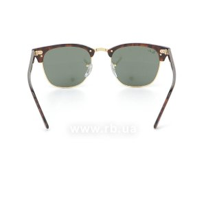 Очки Ray-Ban Clubmaster RB3016-W0366 Mock Tortoise/Arista/Natural Green (G-15XLT), вид сзади