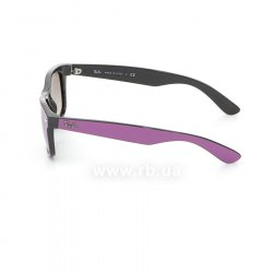Очки Ray-Ban New Wayfarer Color Mix RB2132-873-32 Cyclamen/Black/Gradient Grey, вид слева