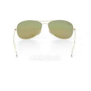 Очки Ray-Ban Cockpit Flash Lenses RB3362-112-4T Matte Arista |  Rubin Mirrored, вид сзади