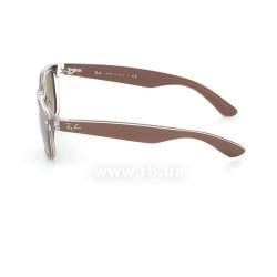 Очки Ray-Ban New Wayfarer Color Mix RB2132-6145-85 Shiny Brown  On Crystal | Brown Faded Yellow 12