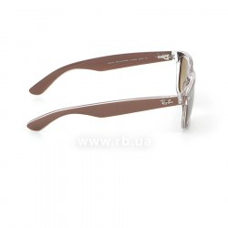 Очки Ray-Ban New Wayfarer Color Mix RB2132-6145-85 Shiny Brown  On Crystal | Brown Faded Yellow 36