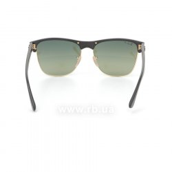 Очки Ray-Ban Oversized Clubmaster RB4175-877-76 Matte Black/ Arista | Faded Green Polarized 24
