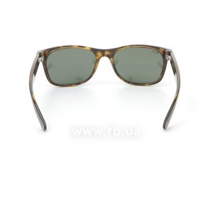 Очки Ray-Ban New Wayfarer RB2132-902 Tortoise/Natural Green (G-15XLT), вид сзади