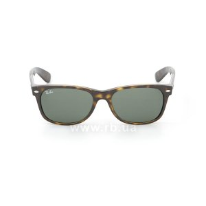 Очки Ray-Ban New Wayfarer RB2132-902 Tortoise/Natural Green (G-15XLT), вид спереди