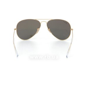 Очки Ray-Ban Aviator Flash Lenses RB3025-112-W3 Matte Gold | Blue Mirror Polarized, вид сзади
