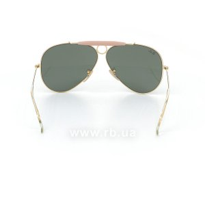 Очки Ray-Ban Shooter RB3138-001 Arista/Natural Green (G-15XLT), вид сзади