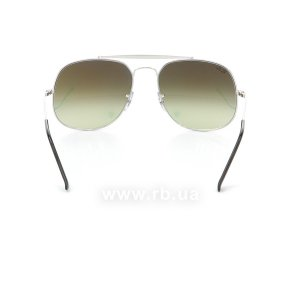 Очки Ray-Ban The General RB3561-003-7O Silver | Mirror Faded Brown, вид сзади