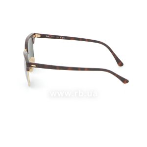 Очки Ray-Ban Clubmaster Flash Lenses RB3016-1145-30 Matte Havana | Crystal Silver Mirror, вид слева