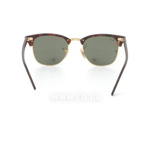 Очки Ray-Ban Clubmaster Flash Lenses RB3016-1145-30 Matte Havana | Crystal Silver Mirror, вид сзади
