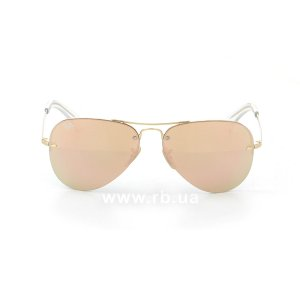 Очки Ray-Ban Highstreet RB3449-001-2Y Arista / Orange-Yellow Mirror, вид спереди