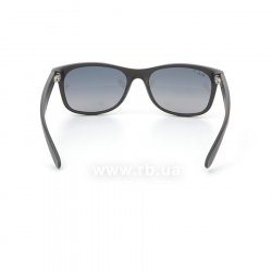 Очки Ray-Ban New Wayfarer RB2132-601S-78 Matte Black | Blue Gradient Grey Polarized, вид сзади