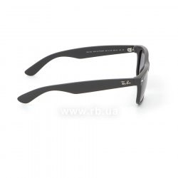 Очки Ray-Ban New Wayfarer RB2132-601S-78 Matte Black | Blue Gradient Grey Polarized, вид справа