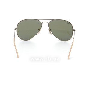 Очки Ray-Ban Aviator Flash Lenses RB3025-167-1R Matte Bronze | Violet Mirror Polarized, вид сзади