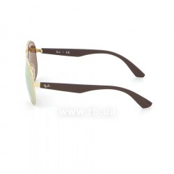 Очки Ray-Ban Active Lifestyle Aviator RB3523-112-2Y Matt Arista/ Matt Brown| Pink Mirror, вид слева