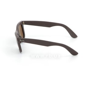 Очки Ray-Ban Original Wayfarer Leather RB2140QM-1153-N6 Brown Leather | Neophan Polar Brown P3 Plus, вид слева