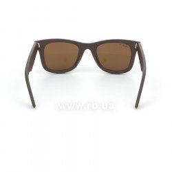 Очки Ray-Ban Original Wayfarer Leather RB2140QM-1153-N6 Brown Leather | Neophan Polar Brown P3 Plus 24