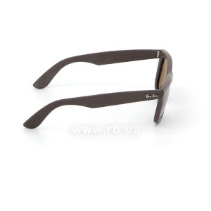 Очки Ray-Ban Original Wayfarer Leather RB2140QM-1153-N6 Brown Leather | Neophan Polar Brown P3 Plus, вид справа