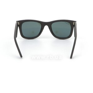 Очки Ray-Ban Original Wayfarer Leather RB2140QM-1152-N5 Insert Black Leather | Neophan Polar Green P3 Plus, вид сзади