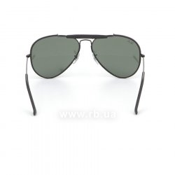 Очки Ray-Ban Craft Outdoorsman RB3422Q-9040 Black / Black Leather | Natural Green (G-15XLT), вид сзади