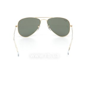 Очки Ray-Ban Aviator Small Metal RB3044-L0207 Arista | Natural Green (G-15XLT), вид сзади