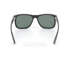 Очки Ray-Ban Justin RB4165-601-71 Black | Grey/Green, вид сзади
