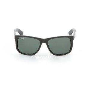 Очки Ray-Ban Justin RB4165-601-71 Black | Grey/Green, вид спереди