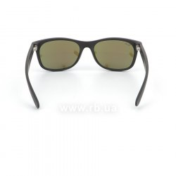 Очки Ray-Ban New Wayfarer Flash Lenses RB2132-622-17 Black Rubber/ Blue Mirror, вид сзади