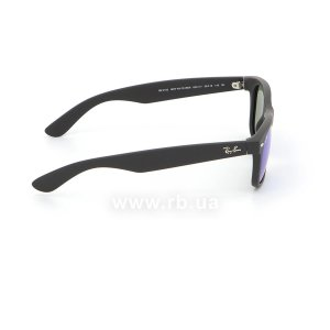 Очки Ray-Ban New Wayfarer Flash Lenses RB2132-622-17 Black Rubber/ Blue Mirror, вид справа