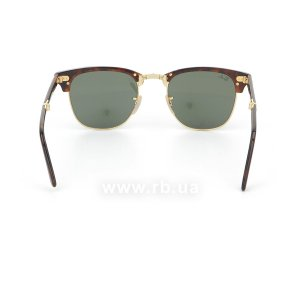 Очки Ray-Ban Folding Clubmaster RB2176-990 Dark Havana | Natural Green (G-15XLT), вид сзади