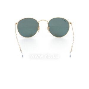 Очки Ray-Ban Round Metal RB3447-112-58 Arista | Natural Green Polarized, вид сзади