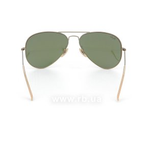 Очки Ray-Ban Aviator Flash Lenses RB3025-167-4K Matte Bronze | Violet Mirror, вид сзади