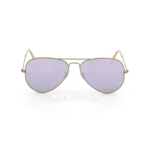 Очки Ray-Ban Aviator Flash Lenses RB3025-167-4K Matte Bronze | Violet Mirror, вид спереди