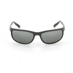 Очки Ray-Ban Predator 2 RB2027-601-W1 Black | Polarized Crystal Mirror Gray , вид спереди