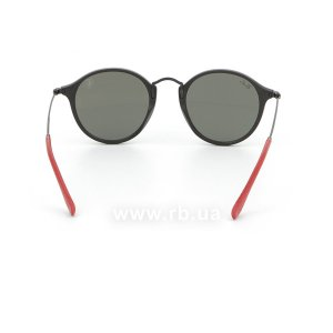 Очки Ray-Ban Scuderia Ferrari Collection RB2447NM-F602-30 Black / Red | Crystal Silver Mirror, вид сзади