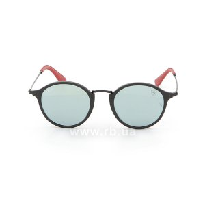 Очки Ray-Ban Scuderia Ferrari Collection RB2447NM-F602-30 Black / Red | Crystal Silver Mirror, вид спереди