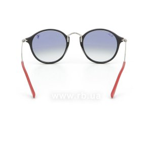 Очки Ray-Ban Scuderia Ferrari Collection RB2447NM-F601-3F Black / Silver | Gradient Light Blue, вид сзади