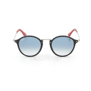 Очки Ray-Ban Scuderia Ferrari Collection RB2447NM-F601-3F Black / Silver | Gradient Light Blue, вид спереди
